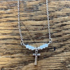 Silver Strike Dainty Cross Necklace!!! NWT!!!